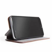 Woodcessories EcoFlip Business iPhone 7 Ochranné pouzdro, ořech/kůže