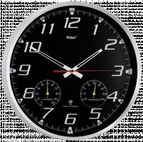 Mebus 52660 Rádiem řízené nástěné hodiny, černá