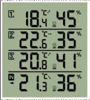 Bresser Temeo Hygro Quadro Meteorologická stanice, černá