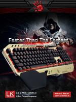 A4tech Bloody B860 mechanická herní klávesnice, USB, CZ, zlato-černá
