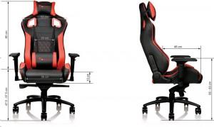 TteSPORTS Gaming židle GT-Fit 100 červená