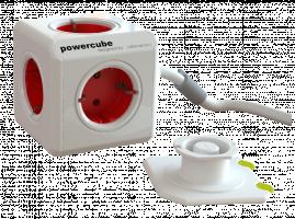 allocacoc PowerCube Extended 3 m vc. 3 m kabel červená typ F