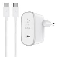 Belkin USB-C AC Nabíječka, bílá + 1,5 m USB-C kabel F7U008vf05-WHT