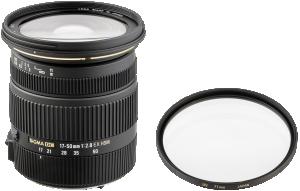 Sigma EX 2,8/17-50 DC OS N/AF + Sigma EX UV filtrů 77 mm