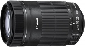 Canon EF-S 55-250mm f/4-5.6 IS STM + clona ET-63