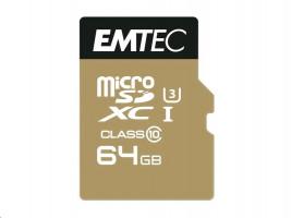 MicroSDXC 64GB EMTEC SpeedIn CL10 95MB/s FullHD 4K UltraHD Blister