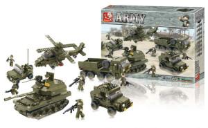 Sluban M38-B0311 - Stavebnicové Kostky Army Serie Pozemní Jednotky