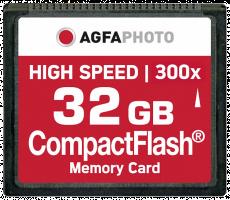 AgfaPhoto Compact Flash 32GB vysokorychlostní 300x MLC