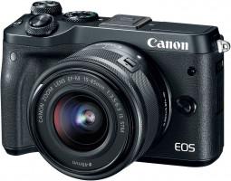 Canon EOS M6 + EF-M 15-45mm 3.5-6.3 IS STM MILC 24.2MP CMOS 6000 x 4000px Černá