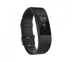 Fitbit Charge 2, Black Gunmetal, černý, velikost L