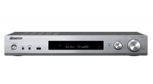 Pioneer AV přijímač 5.1 se sítí, slim, stříbrný (VSX-S520-S)