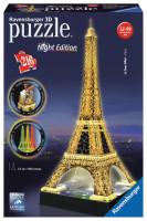Ravensburger 3D Puzzle Budovy - Eiffelova věž v noci
