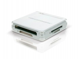 Conceptronic All in One memory card reader/writer - Čtečka karet - all-in-1 ( CF I, CF II, MS, MMC, SD, SDHC ) - USB 2.0