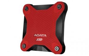 ADATA externí SSD SD600 3D NAND, 256GB, USB 3.1, červená