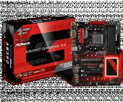ASRock AB350 Gaming K4, AM4, DDR4 2667, 6 SATA3, 8 USB 3.0, HDMI, DVI-D, D-Sub