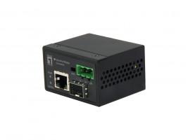 LevelOne IEC-4000 100Mbit/s Konvertor síťové kabeláže, černá