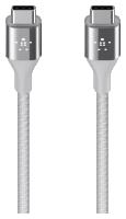 Belkin DuraTek USB-C/USB-C DuPont Kevlar kabel 1,2m stříbrný