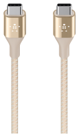 Belkin DuraTek USB-C/USB-C DuPont Kevlar kabel 1,2m zlatý