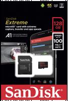 SanDisk microSDXC V30 A1 128GB Extreme 100MB SDSQXAF-128G-GN6MA