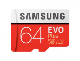 Samsung micro SDXC 64GB EVO Plus + SD adaptér
