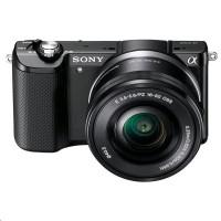 Sony Alpha 5000 sada černá barva + SEL-P 16-50 + SEL 55-210