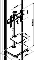 Reflecta TV stojan 42P-Shelf black