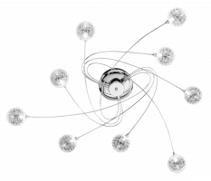 WOFI Ceiling Light ASTRO 9xG4 20W replaceable 304 lm