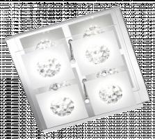 WOFI LED Stropní svítidlo REIMS 4xLED 3W integrated 200 lm