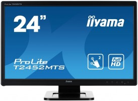"Touchscreen monitor Iiyama T2452MTS-B4 23.6"", 2ms, VGA, DVI-D, HDMI, black"