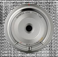 Olympus BCL-1580 Body Cap Lens stribrna