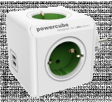 Allocacoc PowerCube Original USB pro Extended Cubes, typ F, zelená