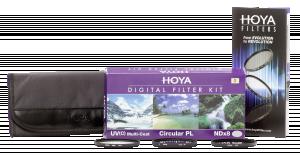 Hoya Digital filtrů sada II 55 mm Pol-Circ. / NDX8 / HMC UV (C)