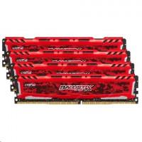 Ballistix Sport LT 64GB sada DDR4 16GBx4 2666 MT/s DIMM 288pin red
