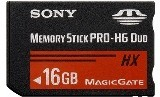 Sony Memory Stick Pro DUO High Grade MSHX16B