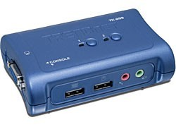 TRENDnet 2-Port USB KVM Switch sada w/ Audio