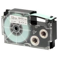 Casio XR-12 WE1 12 mm páska - černý tisk na bílou pásku