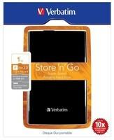 "VERBATIM HDD 2.5"" 1TB Store ""n"" Go USB 3.0, černá barva"