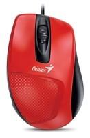 GENIUS myš DX-150X, drátová, 1000 dpi, USB, červená