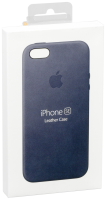 Apple iPhone 5/5S/SE Leather Case Midnight Blue