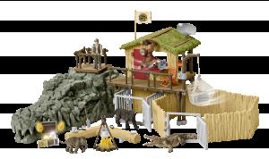 Schleich 42350 - Výzkumná stanice v krokodýlí džungli