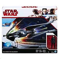 """Hasbro Star Wars Force Link Kylo Ren""""s TIE Silencer & Kylo Ren (C1252)"""