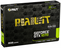 PALIT GeForce GTX 1070 Dual 8GB HDMI + 3*DP + Dual DVI-I