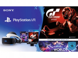 Sony PlayStation VR + PS Camera + PS VR Worlds + GT Sport - Playstation