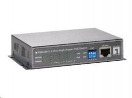LevelOne FSW-0513 - Prepínac - 4 x 10/100 (PoE) + 1 x 10/100 - desktop - PoE