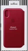 Apple iPhone X kožené pouzdro, Růžová