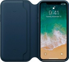 Apple iPhone X kožené pouzdro, modré