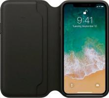 Apple iPhone X kožené pouzdro, Černá