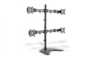 "Universal Monitor Stand, 4xLCD, 27"", max. load 8kg, adjustable and rotated 360"