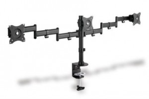 """Clamb držák Monitor Stand, 3xLCD, max. 3x27"""", adjustable and rotated 360°"""