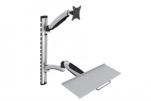 "Flexible Wall Mount, 1xLCD+keyboard, max. 27"", adjustable and rotated 360°"